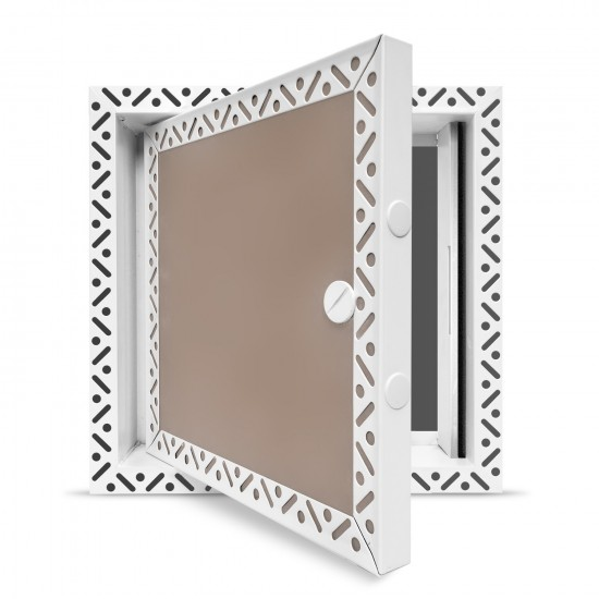 Fire Rated Metal - Plasterboard Access Panel - Standard Square Lock