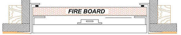 Fire Rated Beaded Frame Diagram
